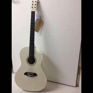 OSJ1-WH Oscar Schmidt Small Jumbo White Acoustic guitar