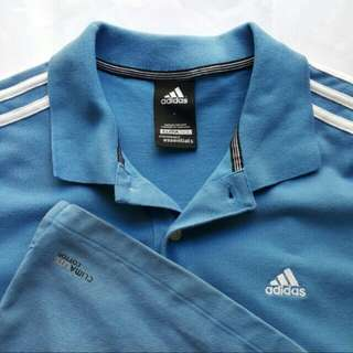 Adidas Casual Polo Tee (Size L - Preloved) #bajet20