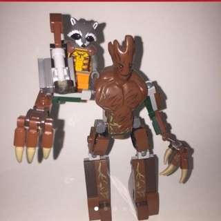 Lego, Groot & Rocket Raccoon, Guardian Of The Galaxy, GOTG