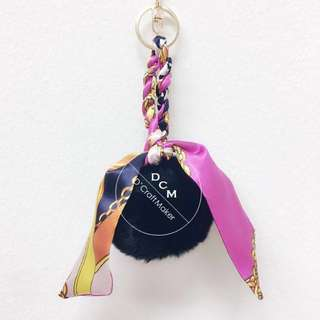 Twilly Furball Fob Bag Charm/Keychain