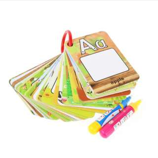 Children English Learning Card Magic Water Drawing Board