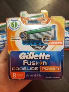 Gillette Fusion Proglide POWER 8 cartridges