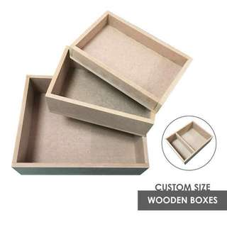 Custom Wooden Boxes