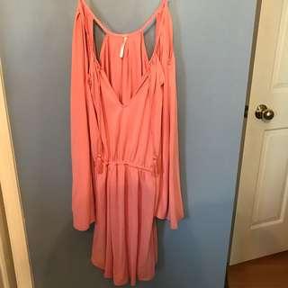 Free People coral dress