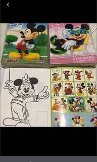 Instock Mini Mickey Mouse Coloring And Stickers Book Brand New