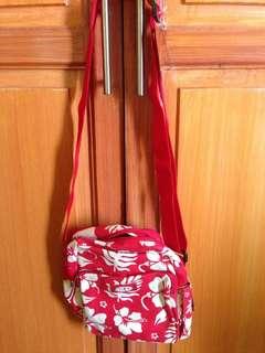 Red floral Sling bag