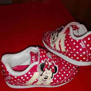 Adidas minnie mouse sneakers 2-3yrs