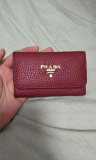 Prada Wallet銀包鑰匙包真皮