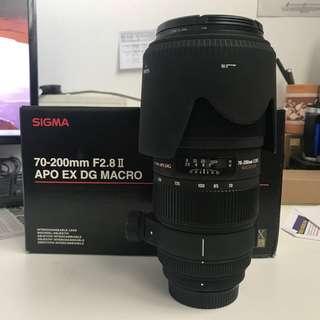 Sigma 70-200mm F2.8 ii Non-Os