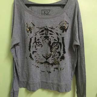 Gray Tiger Sweater