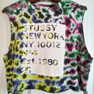Stussy cut-away tie dye