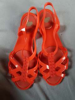 Mel by Melissa Red Sandals size5 Authentic