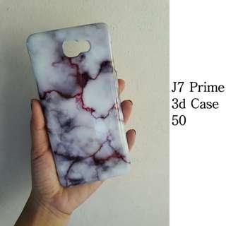 J7 Prime 3D Marble Case