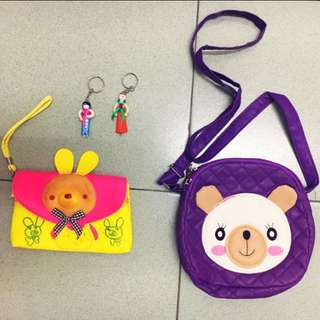 Bear 🐻 Baby Girl Bag (PL) free keychains