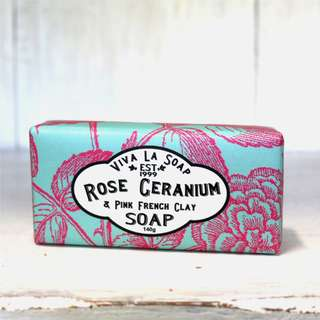 Viva La Soap Rose Geranium and Pink French Clay