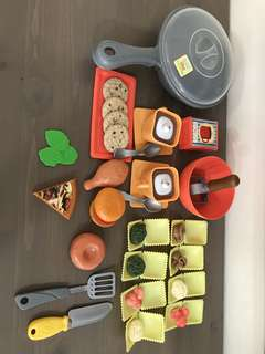 Just like home Toy R Us Food kitchen pretend play toy set