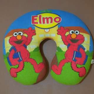 Bantal Leher Elmo Sesame Street + Bonus Elmo Plush Mini