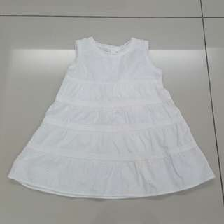 Baby Girls White Dress (12-18months)