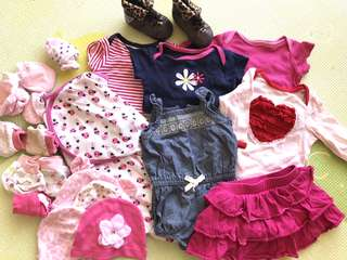 Newborn 0-3m Baby Girl Bundle Essentials