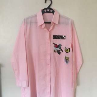 Longsleeves Dress with Patches