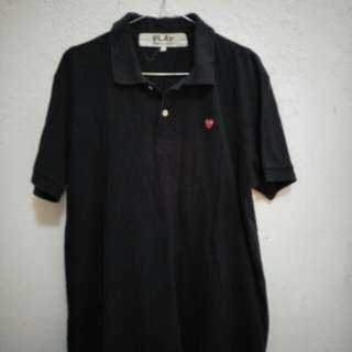 Play polo shirt black mantap