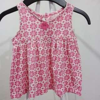 Carters flowery  pink dress
