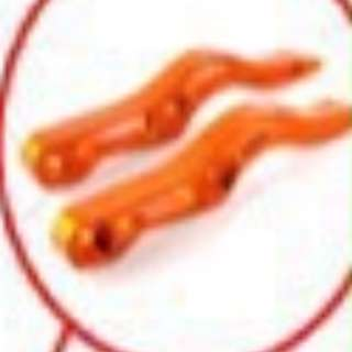 Double Latched Lever Clasp Orange