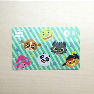 Limited Edition Glittery Dreamworks Ezlink Card, $7 Top-up Value Included, Brand New and Unused