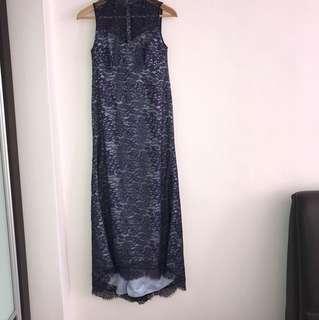 Blue modern Cheongsam