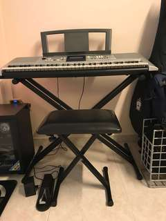 Yamaha PSR E323 Keyboard with Stand & Chair