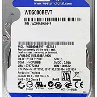 Western Digital 500GB Scorpio Blue Hard Drive