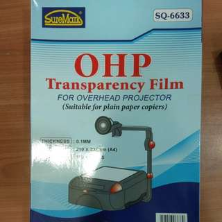 OHP Transparency Film For Overhead Projectors (100sheets)