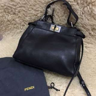 Fendi Mini Black Nappa