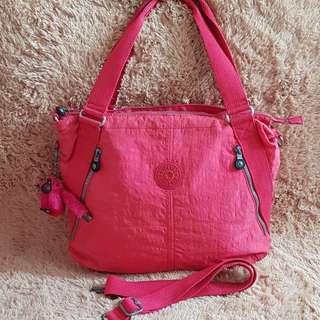 OBRAL Tas Slempang Kipling Original Pink Magenta (Defect Kena Tinta Bagian Dalamnya)