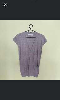 Grey knit top M