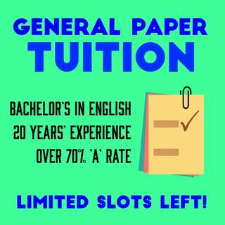 General Paper Tuition - Full-Time GP Tutor 🎓