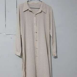 Polka long shirt
