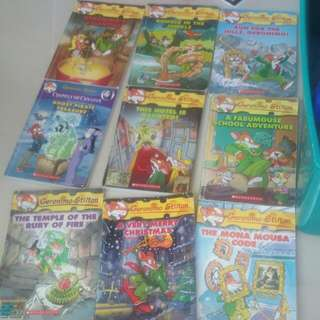 [clearance] Geronimo Stilton story books