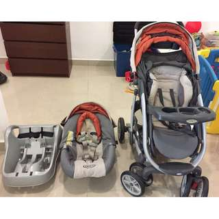 Graco stroller with infant car seat