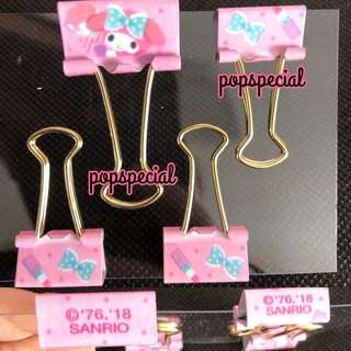 My Melody GOLD Double Clip 4 PCS SET
