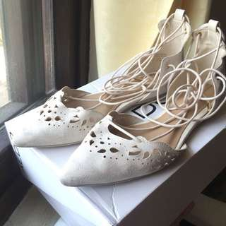 Authentic ALDO Gladiator/Lace Up Flat Pointed Shoes