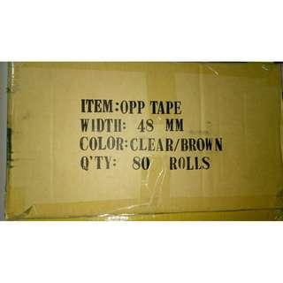 OPP Tape, 48 mm x 45 m, 80 rolls per carton