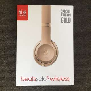 *NEW* Beats Solo 3 Wireless Headphones SPECIAL EDITION GOLD