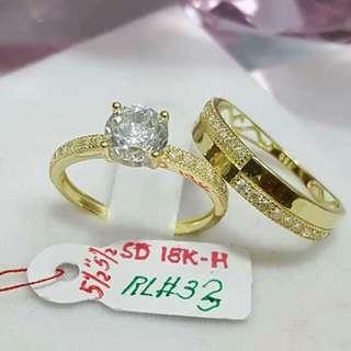 Sale!!! 18k saudi gold couple ring