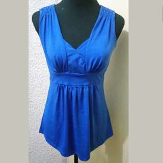 WA498 Candies Blue Blouse (see pics for Measurements and flaw)