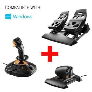 Thrustmaster FCS Flight Pack Joystick Rudder and Paddles