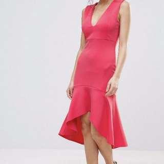 ASOS New bodycon dress pink