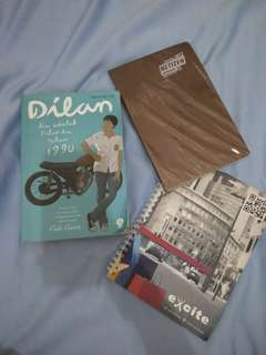 Buku Dilan 1990 Preloved Bonus 2 Notebook