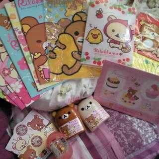 拉拉熊筆記本L夾扭蛋吊飾桌曆一堆