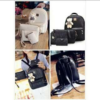 Fashion Korea with Bear 4 in 1 Backpack